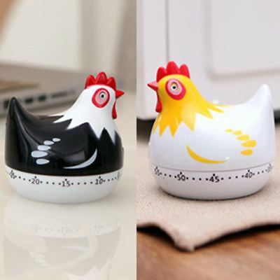 60 Minutes Hen Timer Wind Up Egg Countdown Reminder Clock Kitchen Cooking Tool