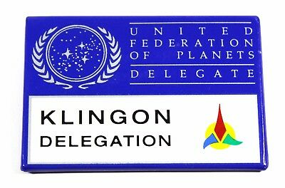 1992 Star Trek United Federation Of Planets Delegate - Klingon Delegation pin