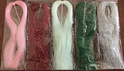 Tinsel Flash Hair 5 Colours available - Fly Tying Materials,Snapper, jig assist