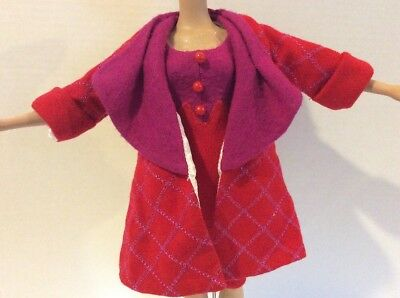 "Tonner Brenda Starr City Sophisticate RED PURPLE SHEATH & COAT 16"" Doll Fashion"
