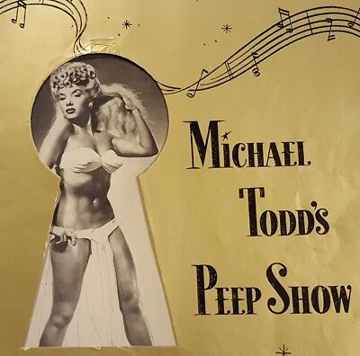 Michael Todd's PEEP SHOW program 1950 Lilly Christine BURLESQUE & Broadway debut