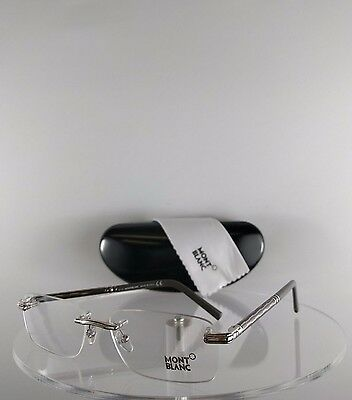 New Authentic MONT Blanc MB 432 016 Eyeglasses Gray Shiny Silver MB0432 Frame