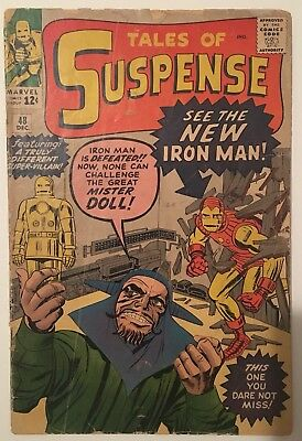 TALES OF SUSPENSE #48 1st Appearance of Iron Man in his red and gold armor.