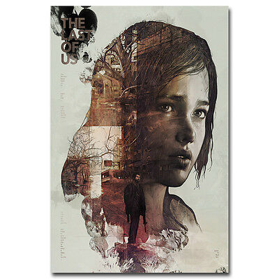 The Last of Us Poster Art Silk Fabric Game Poster Ellie Joe Wall Decor 13x20inch