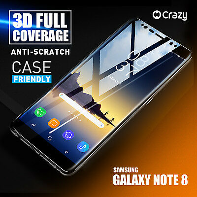 Crazy Tempered Glass Screen Protector Case Friendly for Samsung Galaxy Note 8