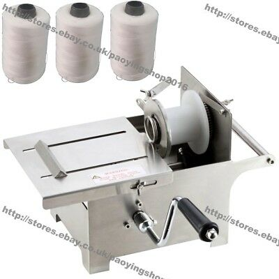 0-42mm Hand Rolling Salami Sausage Stuffer Sausage Tying Machine with 3pcs Twine