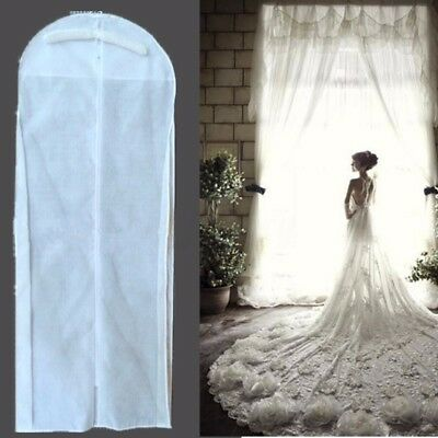 Breathable Bridal Garment Wedding Dress Gown Bag Cover Storage Protector Zip