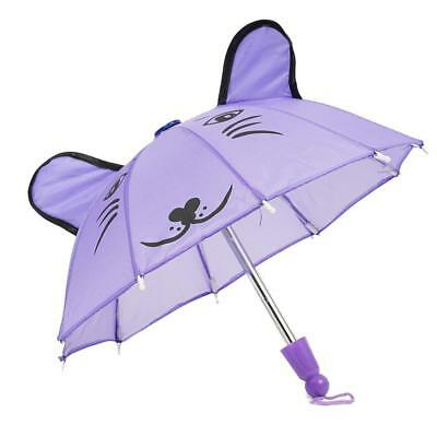 Purple Umbrella For Barbie Doll  Girls Doll Accessories Toy Kit Pop.