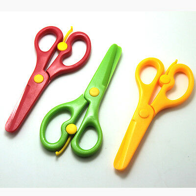 Plastic Safety Scissor Paper Cutting Arts Drawing Activities Kids Handmade Toy