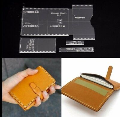 Acrylic Clear Template Pattern Tool Wallet Messager Bag Leather Craft