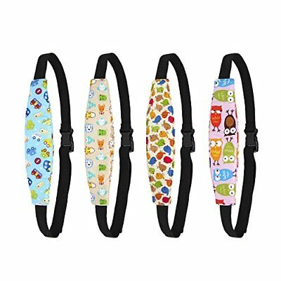 Biubee 4 Pack Infant Baby Head Support Belt Car Seat Neck Relief and Head Sup...