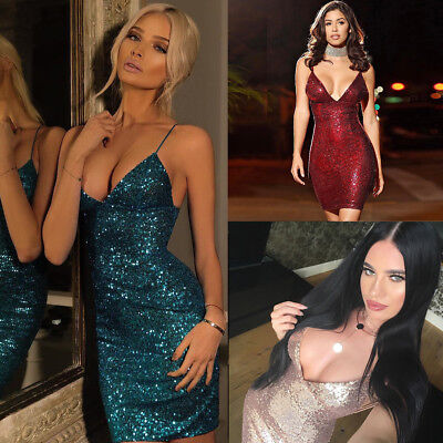 Women's Summer Bandage Bodycon Sleeveless Evening Party Cocktail Club Mini Dress