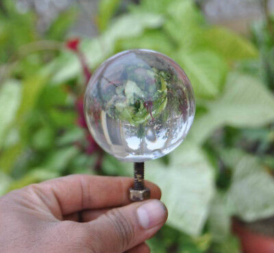 """Vintage Victorian Clear Smooth Glass Entrance Door Center Knob Pull 2.3"""""""