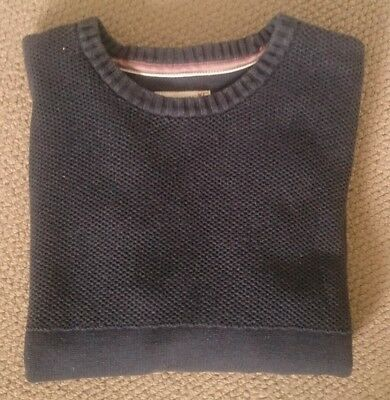 Jeanswest Mens Cotton Crew Knit Jumper Pullover - Navy VGC