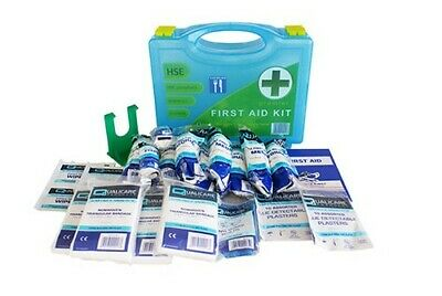 HSE Catering 10 Person Premium First Aid Kit in Box + Wall bracket Work Medical