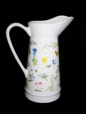 HALLMARK Marjolein Bastin Ceramic WILDFLOWER MEADOW Vase / Pitcher