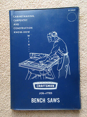 Craftsman Job Fitted Bench Saws Sears Manual 1967