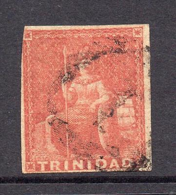Trinidad 1 Penny Red/Brown Stamp c1851-55 Used