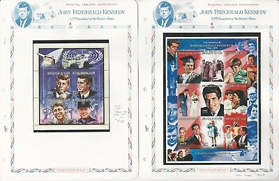 Niger Collection, John Kennedy on 5 White Ace Pages, Mint NH Sheets, 1997-99