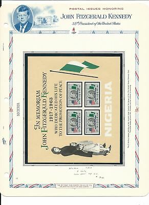 Niger & Nigeria Collection, John Kennedy on 5 White Ace Pages, Mint NH