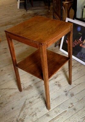 Antique Arts and Crafts Oak Side Table 1920s