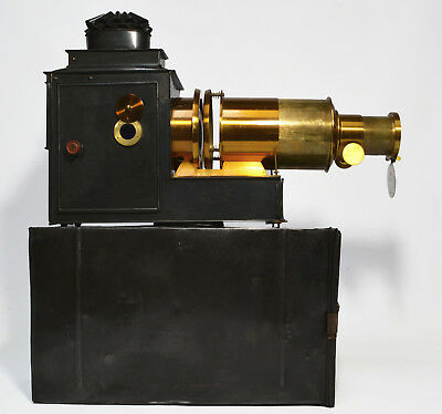 Antique magic lantern, cased