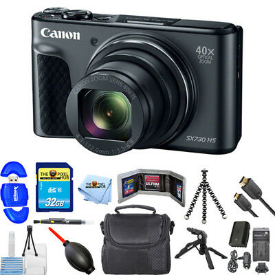 Canon PowerShot SX730 HS Digital Camera (Black) PRO BUNDLE BRAND NEW