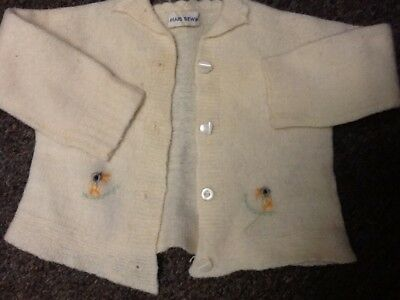 Vintage Girls Baby Infant Childs Sweater Set Hand Sewn