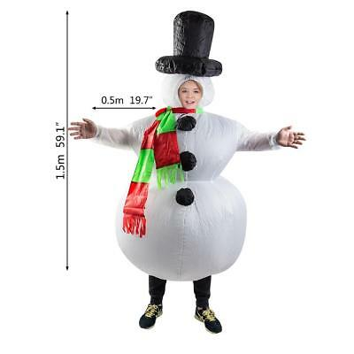 Inflatable Snowman mens boys Christmas fancy dress party blow up novelty costume
