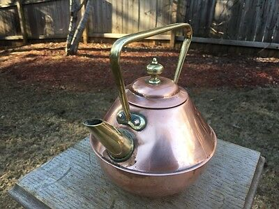 Antique English  Christopher Dresser Design Benham & Froud Copper & Brass Kettle
