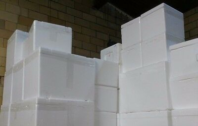 Insulated Styrofoam Cooler Shipping Container White Foam Box Food Cat House