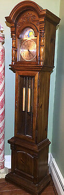Vintage 1970's Ridgeway Grandfather Clock Working Excellent Condition