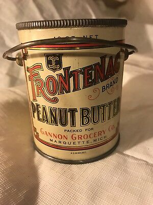 Vintage Frontenac Peanut Butter From Gannon Grocery Company Marquette Michigan.