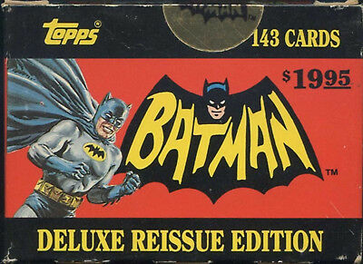 1989 Topps 1966 Batman Factory Sealed Complete 143 Card Box Set Deluxe Reissue