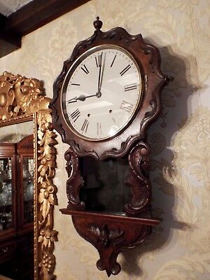 Antique American USA drop dial striking wall clock for restoration