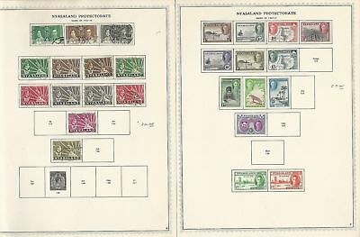 Nyasaland Collection 1891 to 1964 on 10 Minkus Specialty Pages