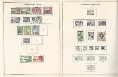 Nyasaland Collection 1891-1964 on 10 Minkus Specialty Pages (B)