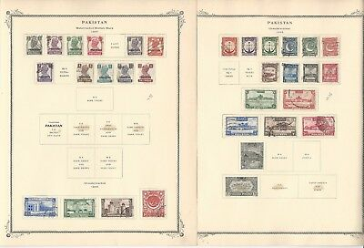 Pakistan Collection 1947-1962 on 18 Scott Specialty Pages, With Bahawalpur