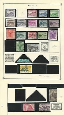 Pakistan Collection 1947 to 1968 on 20 Scott International Pages