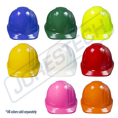 Safety HARD HAT JORESTECH ADJUSTABLE RATCHET SUSPENSION CONSTRUCTION WORK ANSI