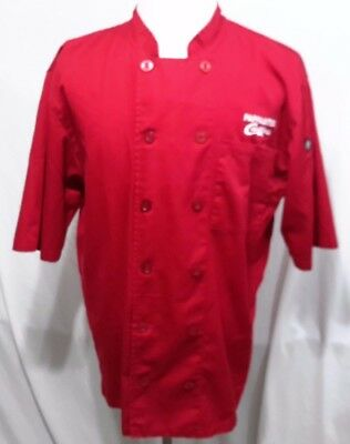 PAPPASITO'S Cantina Unisex Cook Chef Works Lightweight Coat Jacket Red XLarge