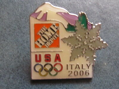 New Home Depot usa olympic   2006 Lapel Pin