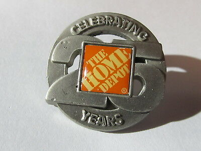 New Home Depot celebrating 25 years Lapel Pin