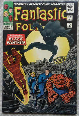 FANTASTIC FOUR #52, KEY ISSUE MARVEL ORIGINAL with 1st BLACK PANTHER.