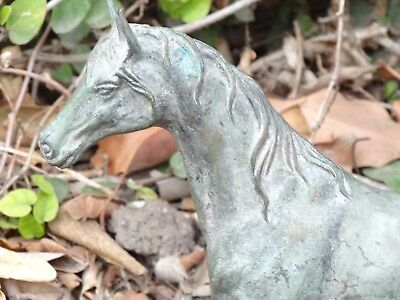 Vintage Sculpture of Horse; Cast from Solid Brass