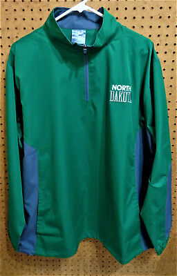 NWOT UND UNIVERSITY OF NORTH DAKOTA 1/4 Zip LS Windbreaker Jacket LG 42-44