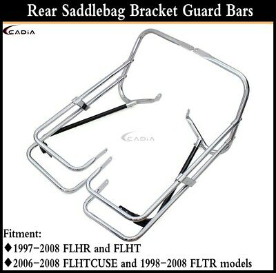 Motorcycle Twin Rail Saddlebag Support For Harley Touring FLHR and FLHT 97-08