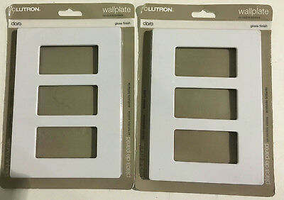 2 PACK Lutron Claro 3 Gang Decora Wall Plate - White New