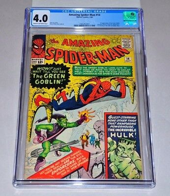 Amazing Spider-Man 14 CGC 4.0 CR/OW Pages 1st Green Goblin