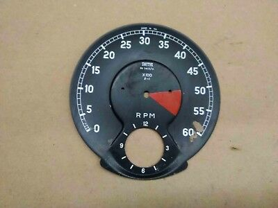 Jaguar XKE E-Type Tachometer with clock Face Plate SMITHS RV 7413/11 OEM